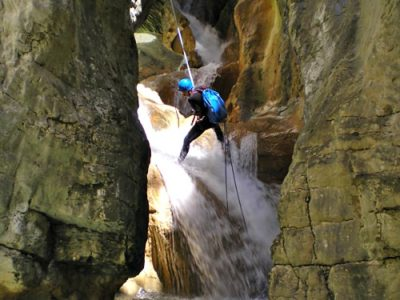 Advanced canyoning Pyreneeën