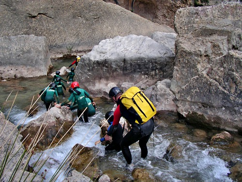 Basic canyoning Pyreneeen