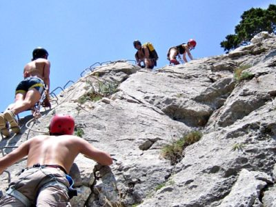 1 dag via ferrata en dry canyon Sierra de Guara Pyreneeën