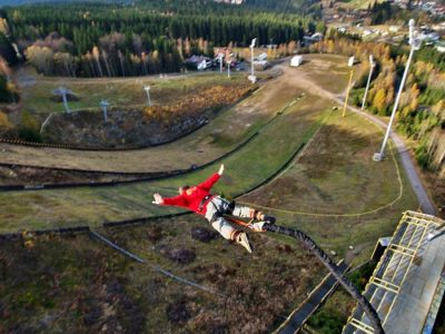 Bungeejump TV Tower Harrachov Tsjechië
