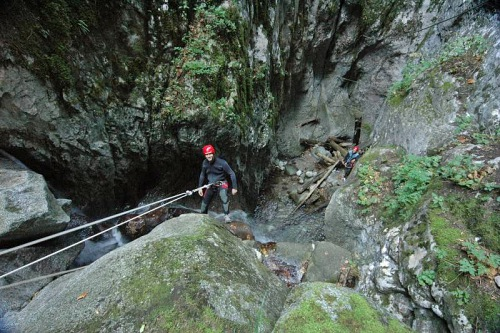 Canyoning Val di Sol Trentino Italie