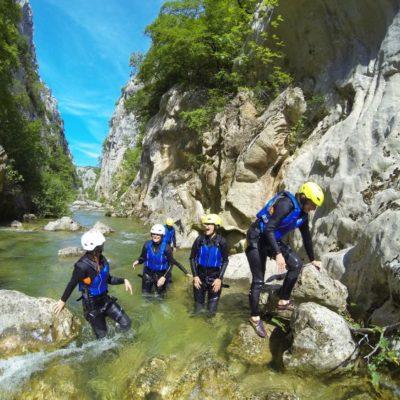 Advanced canyoning Cetina rivier - Zadvarje bij Omiš Kroatië