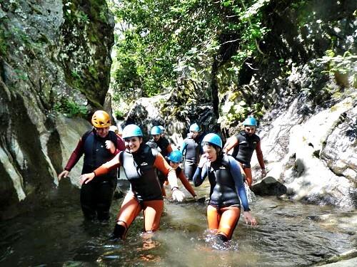 Halve dag Basic Canyoning León Spanje