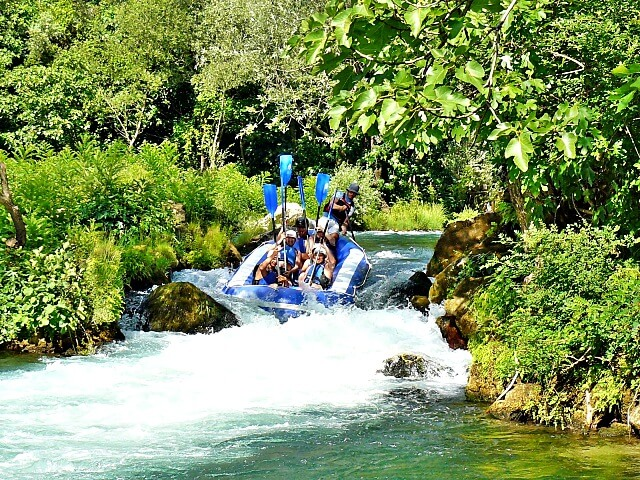 Rafting Cetina Rivier Kroatië