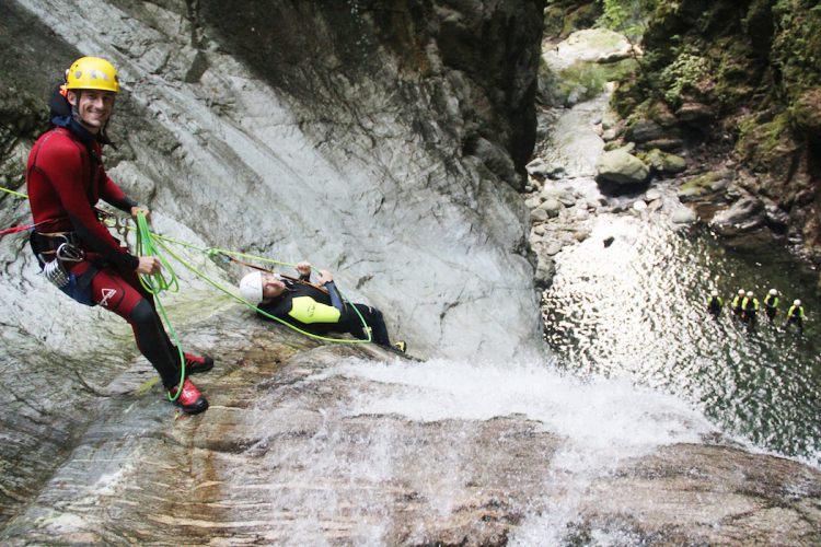Halve dag Canyoning Ticino Zwitserland