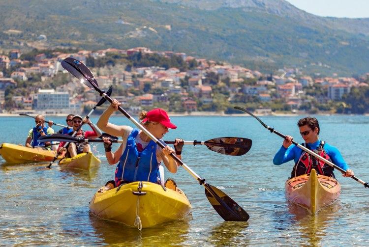 Zee en rivier kajakken Split Kroatië