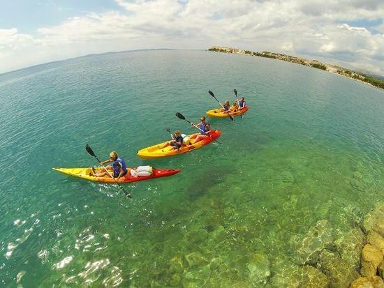 Zee en rivier kajakken Split Kroatië cover