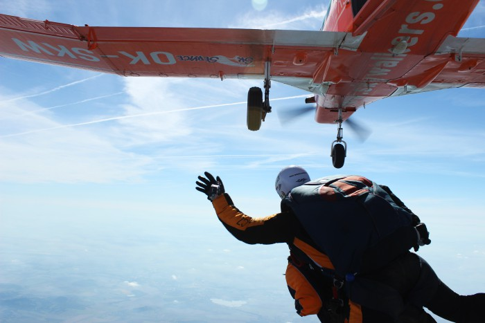 Skydive Tandemsprong Praag Tsjechie