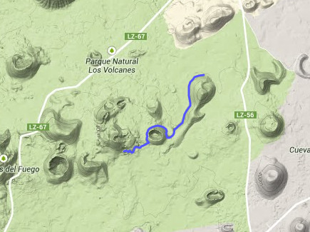 5 uur hiken Fire Route Lanzarote