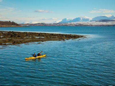 Avond Zee kajakken Tromsø