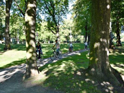 Fietstocht stadspark Stockholm