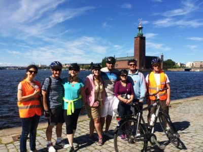 3 uur stadsfietstocht met gids door Stockholm