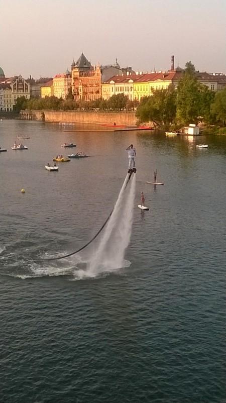 Flyboarden in Praag