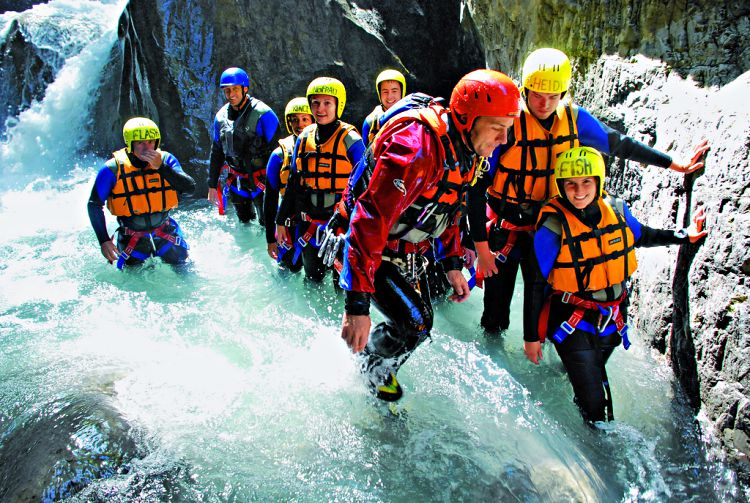 Canyoning in Interlaken Zwitserland