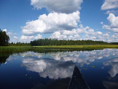 Kanotocht Sörsjön Dalarna centraal Zweden