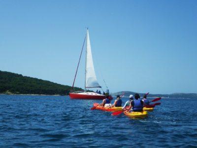 Zeekajakken Zlarin Eiland Šibenik Kroatië