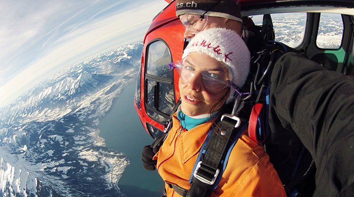 Helikopter Skydive Interlaken Zwitserland