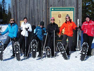 Sneeuwschoen Hike Sörsjön Dalarna centraal Zweden