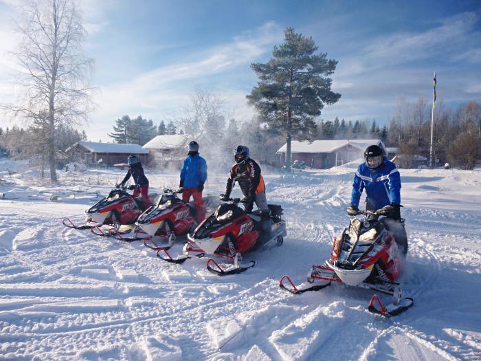 Sneeuwscooter Tocht Sörsjön Dalarna centraal Zweden