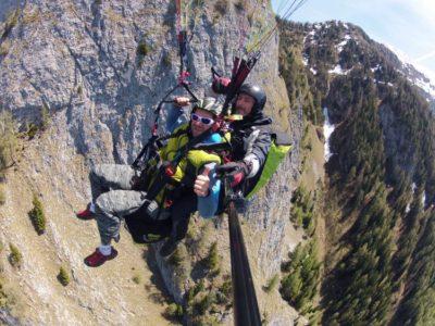 Paragliden tandemvlucht Val di Sol Trentino Italië