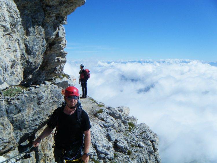 Uitdagende Via Ferrata Val di Sol Trentino Italië
