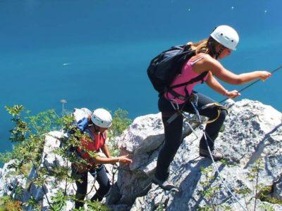 Eenvoudige Via Ferrata Val di Sol Trentino Italië