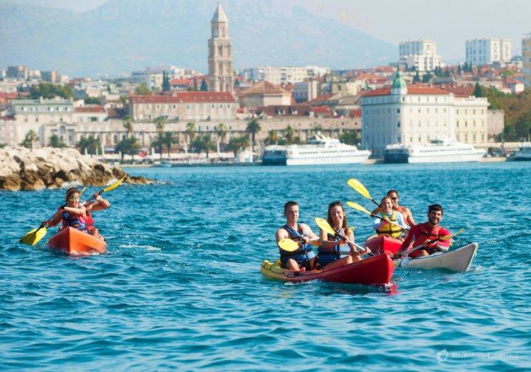 Zee kajakken Split Kroatië