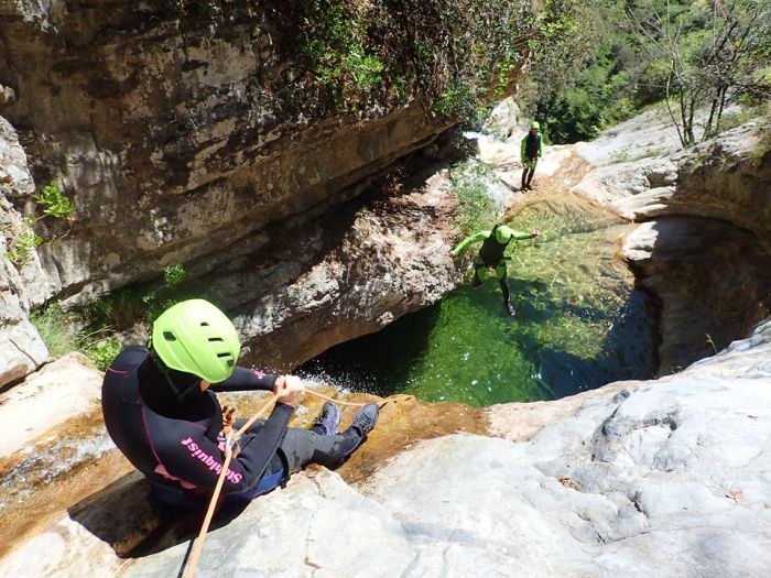 Vione - Advanced Canyoning - Tremosine Garda Meer - Italië