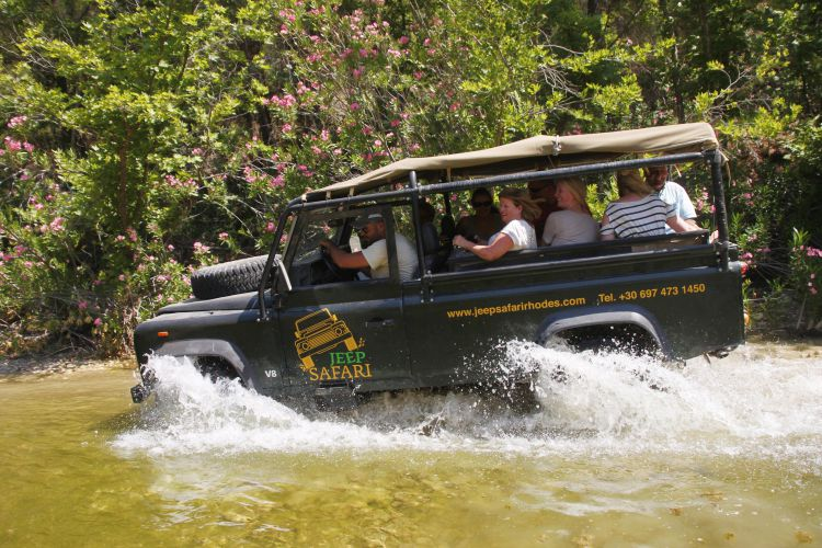 1 dag Jeep Safari met chauffeur Rhodos Griekenland