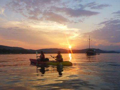 3 uur Zee Kajakken Zonsondergang Halkidiki Griekenland