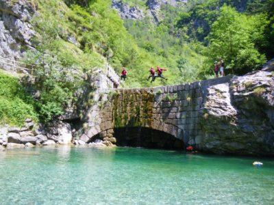 3 uur canyoning Idromeer Storo Trentino Italië