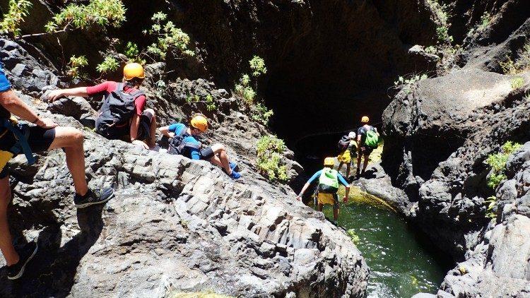 1 dag canyoning Tenerife Spanje