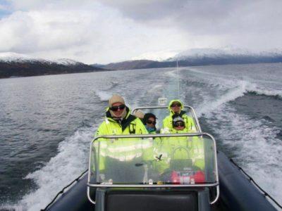 5 uur walvis spotten RIB boot Tromso Noorwegen