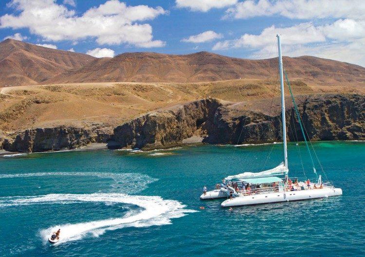 4 uur zeilen en jetski Puerto Calero Lanzaro