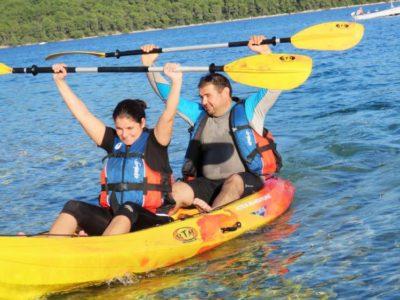 8 uur zee kajakken Barban Istrië Kroatië