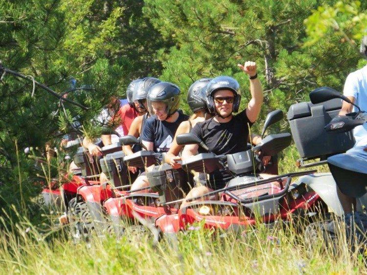 quad rijden Barban Istrië Kroatië