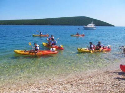 4 uur zee kajakken Barban Istrië Kroatië