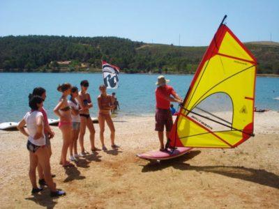 1 uur introductie windsurfen Pula Kroatië
