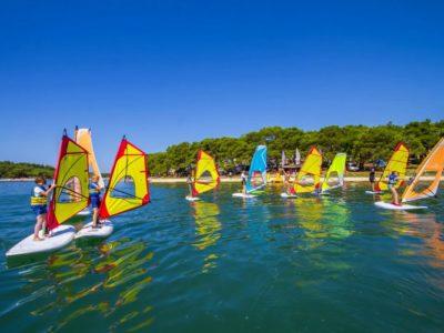 Beginner cursus windsurfen Pula Kroatië