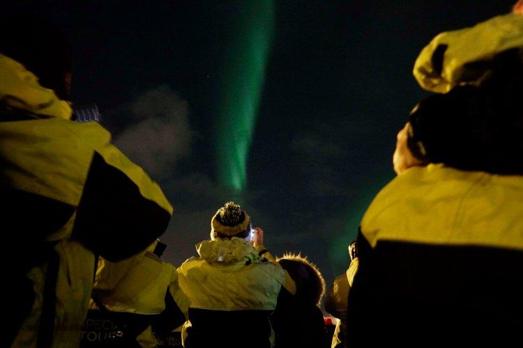 2 uur bootexcursie Noorderlicht Reykjavik IJsland