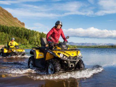 2,5 uur quad excursie door de bergen Reykjavik IJsland