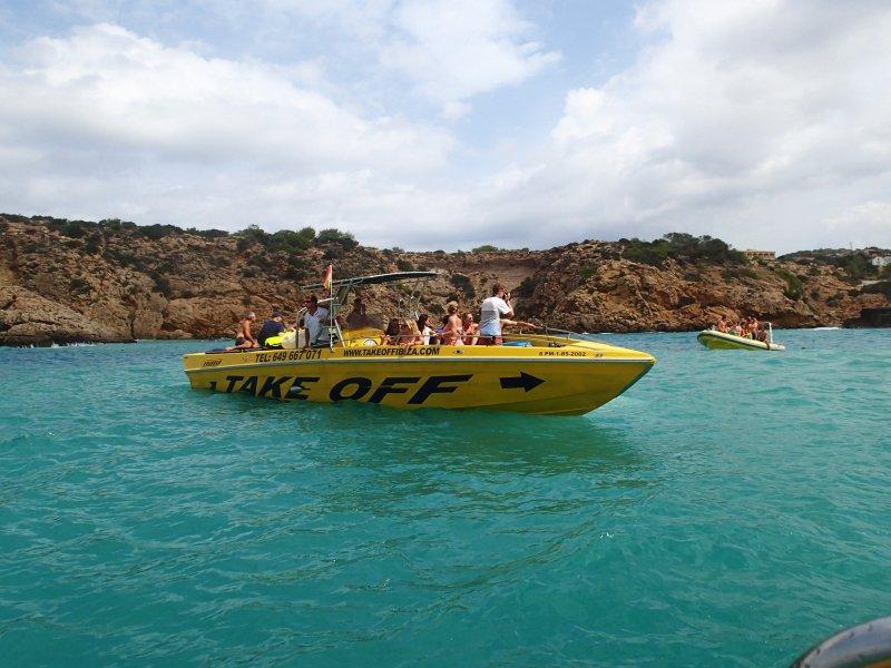 2 uur speedboottocht San Antonio Ibiza Spanje