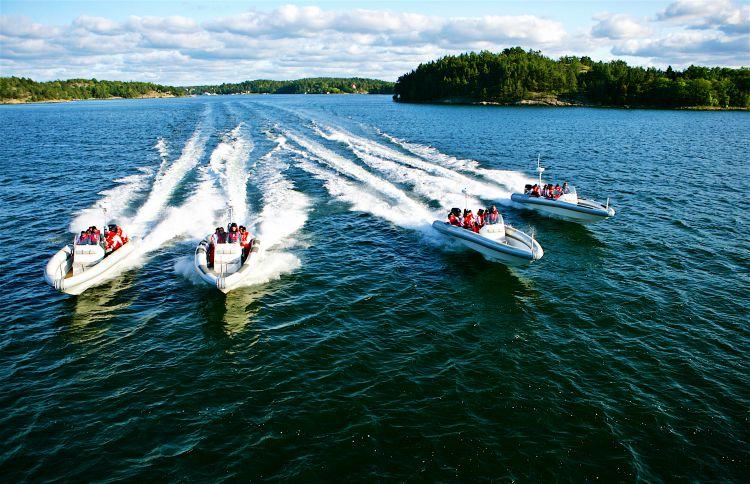 1 uur RIB speedboottocht Stockholm Archipel Zweden