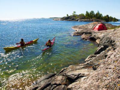 3 daagse kajak tour archipel Stockholm Zweden