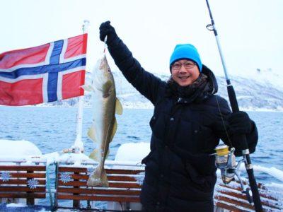 5 uur vissen Tromsø Noorwegen