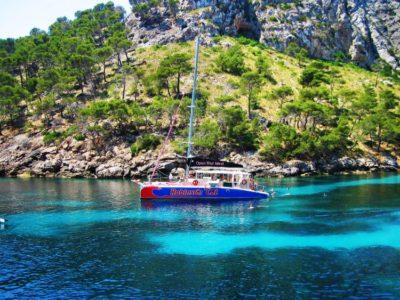Halve dag catamarancruise met lunch en drankjes Mallorca