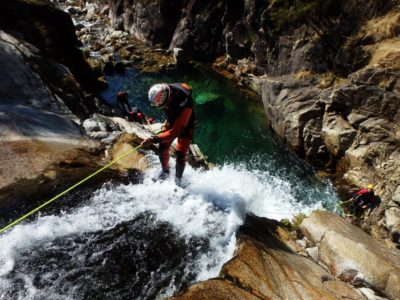 canyoning voor beginners Lissabon Portugal