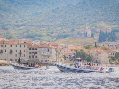5 eilanden speedboottocht en Blue Cave Split Kroatië