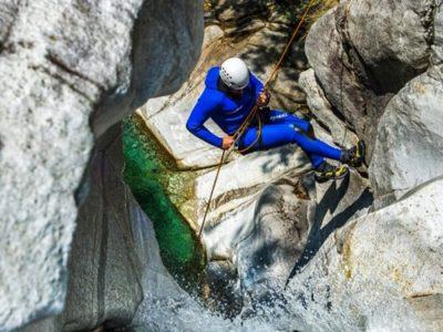 Canyoning Boggera nabij Cresciano Ticino Zwitserland