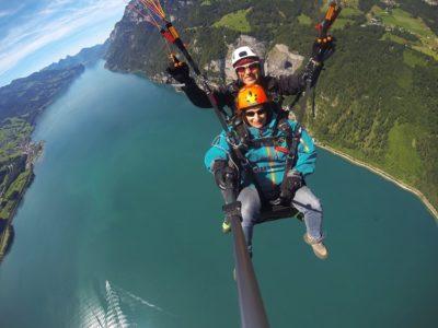 Paragliden Tandemvlucht Engelberg nabij Sarnen Zwitserland